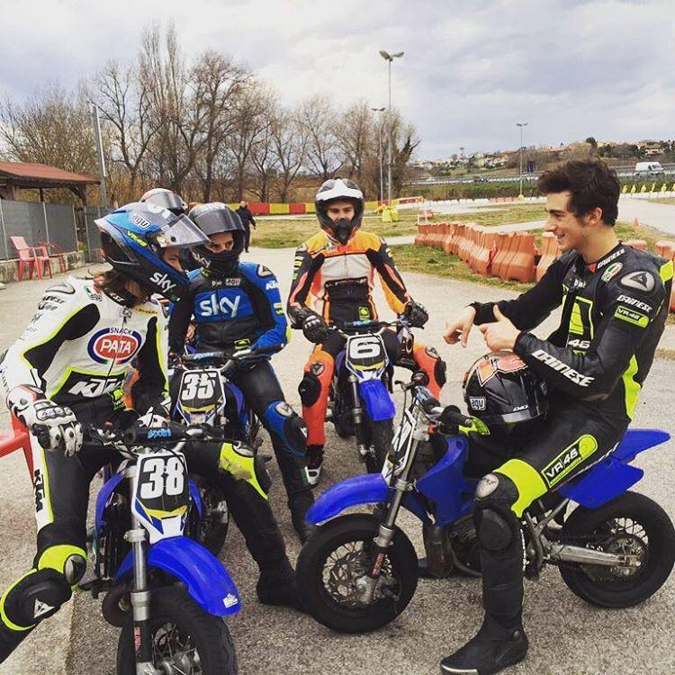 Mini bikes karting track friends  smiles all round hellip
