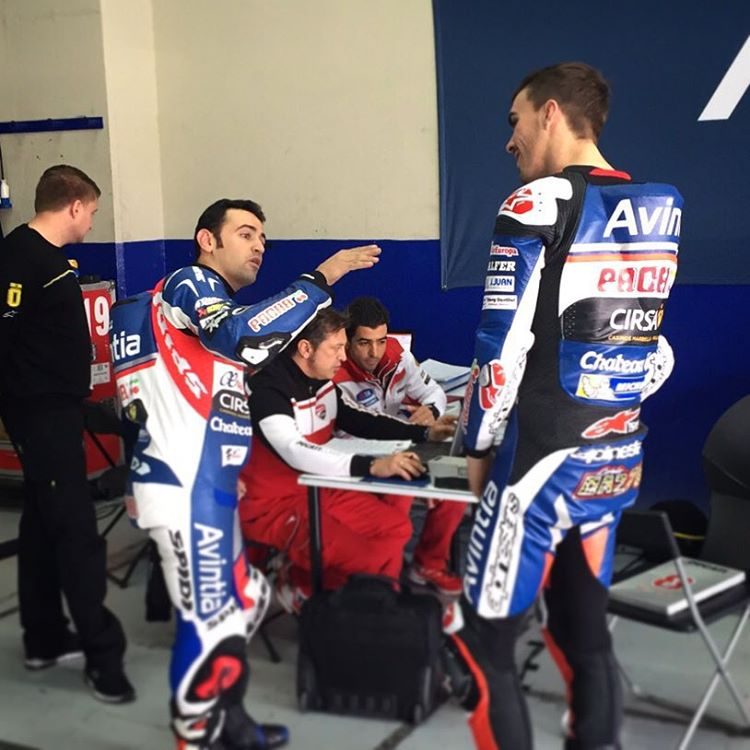 CaptionThis! Whats avintiaracings hectorbarbera8 saying to new team mate forhellip