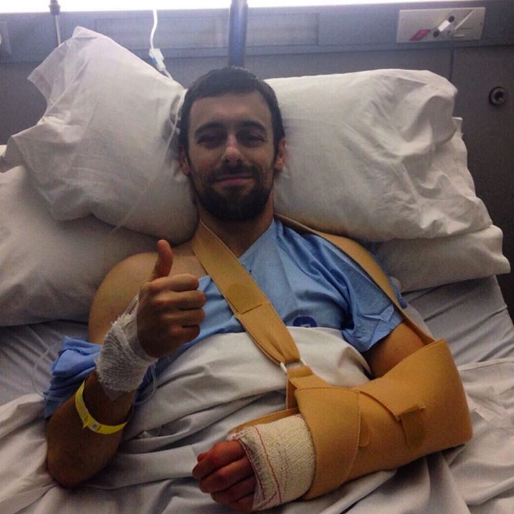 Thumbs up for eugenelaverty whos had successful surgery after thehellip
