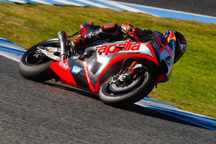 gresiniracings stefanbradl6 focuses on the new tyres during the privatehellip