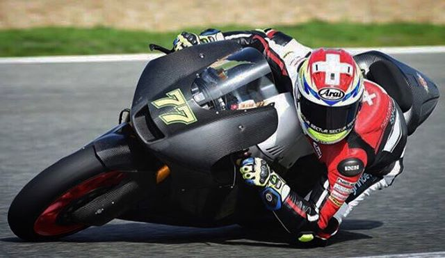 You talkin to me?  dominiqueaegerter Jerez Testing Moto2