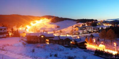 Village Donovaly at night - Slovakia ski resort