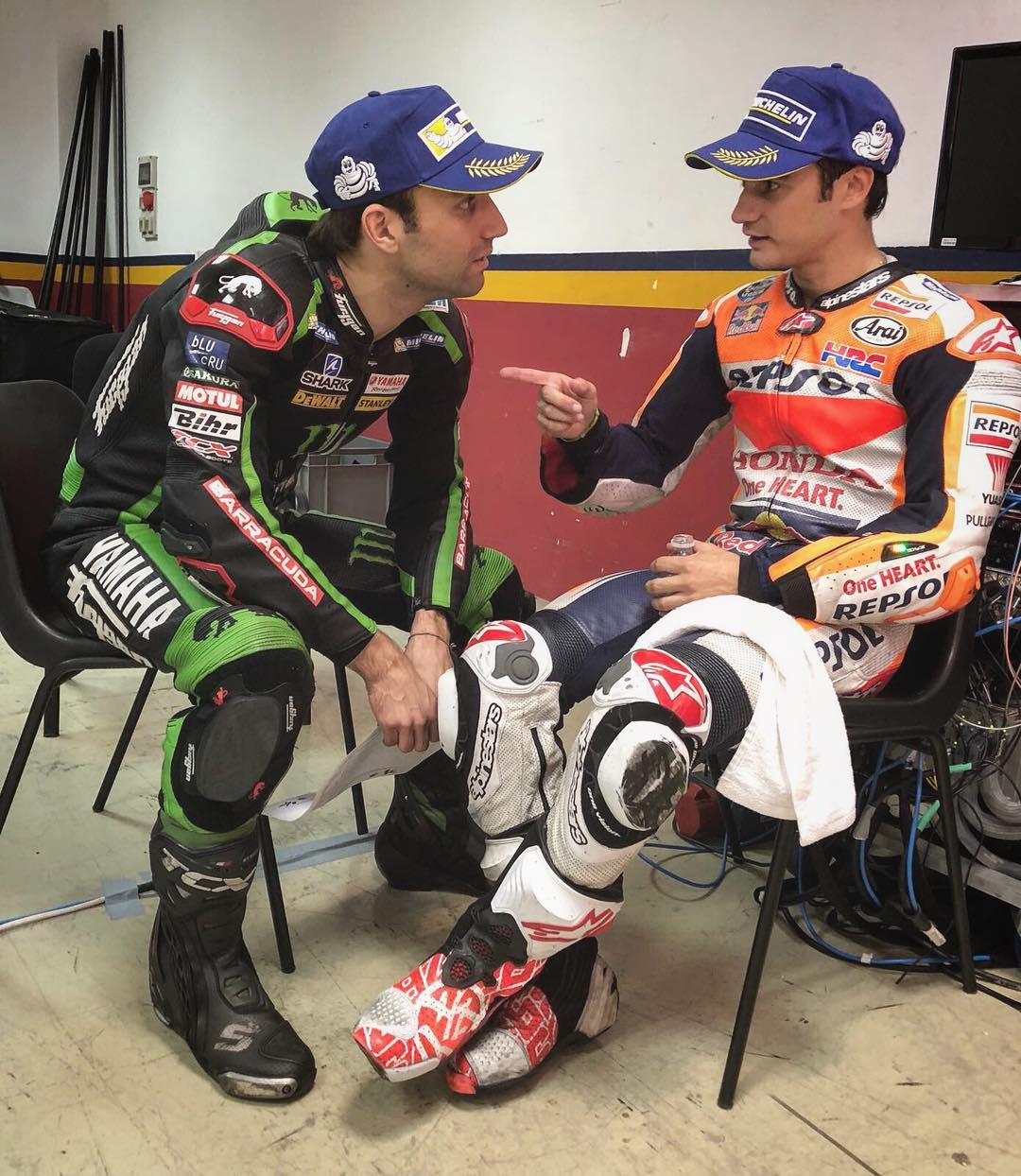 CaptionThis!  johannzarcoofficial05 26danipedrosa ValenciaGP MotoGP FinalShowdown CaptionCompetition